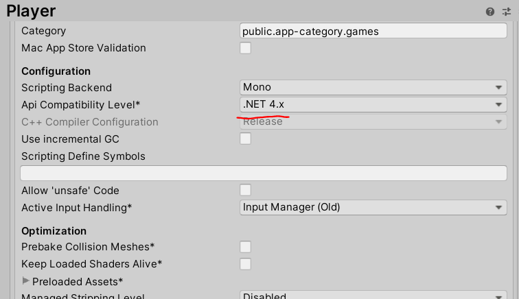 Change API Level to 4.0